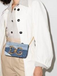 Dolce & Gabbana DG Girls denim mini bag ~ logo crossbody bags