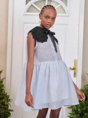 sister jane DREAM Sincerely Sleeveless Smock Dress – voluminous oversized collar dresses - flipped