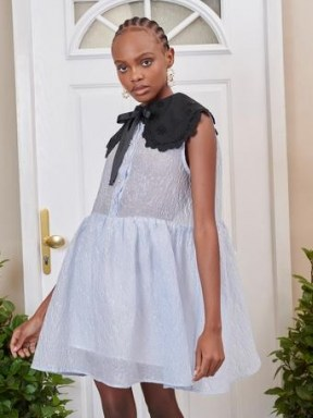 sister jane DREAM Sincerely Sleeveless Smock Dress – voluminous oversized collar dresses