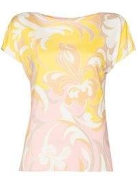Emilio Pucci Tropicana print short-sleeve T-shirt – floral tee – vintage prints