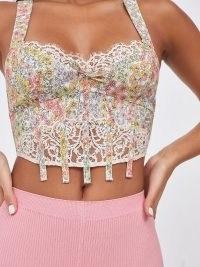 FOR LOVE & LEMONS Esme Bustier / floral scalloped lace bustiers / romantic lingerie