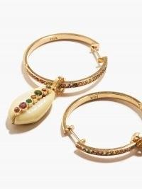 ARON & HIRSCH Etiope 18kt gold & sapphire hoop earrings