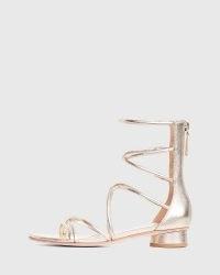 PAIGE Evie Gladiator Sandal Light Gold   metallic gladiators   strappy summer sandals