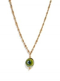 TOHUM Evil Eye 24kt gold-plated pendant necklace