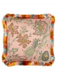 HOUSE OF HACKNEY Flora Fantasia medium floral-jacquard cushion in pink ~ vintage style print cushions ~ soft furnishings