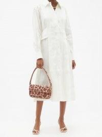 AJE Gentle side-slit linen-blend longline shirt ~ stylish relaxed fit long sleeve dresses