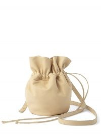 LEMAIRE Glove Purse mini leather cross-body bag ~ small drawstring crossbody bags