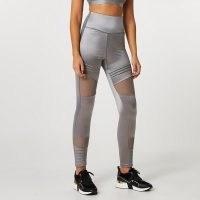 RIVER ISLAND Grey RI Active mesh panelled leggings ~ semi sheer sportswear