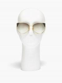 LINDA FARROW Ida cat-eye 18kt gold-plated sunglasses | large metal framed sunnies