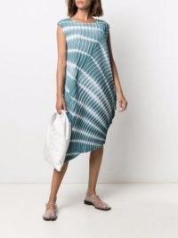 Issey Miyake shibori pleated dress ~ asymmetric pleat detail sleeveless dresses
