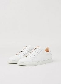 L.K. Bennett JACK WHITE NAPPA LEATHER TRAINERS | leather low top sneakers