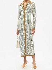 DODO BAR OR Keshia zigzag-knitted maxi dress | retro knitted shirt dresses