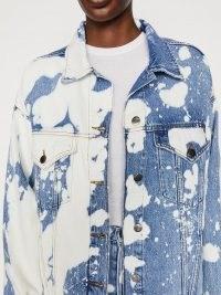 FRAME Le Oversized Jacket Baltic Splash | denim bleach splatter jackets