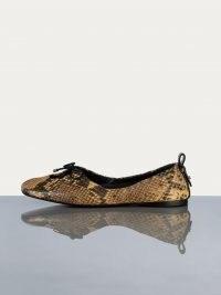 FRAME Le Sunset Slipper Python Multi | square toe snake print ballerina flats | animal print ballerinas