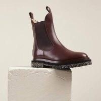 DEAR FRANCIS TONY BOOT COFFEE ~ women's dark brown chelsea boots