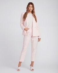 PAIGE Leema Pant Pearl Pink ~ crop leg summer trousers ~ women's front pleat pants