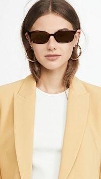 Linda Farrow Luxe x Attico Gigi Sunglasses T-Shell/Gold/Brown
