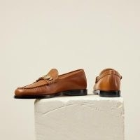 DEAR FRANCES LUCA LOAFER ~ tan-brown leather loafers