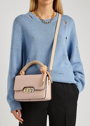 MARC JACOBS (THE) The J Link light pink leather top handle bag – luxe flap bags