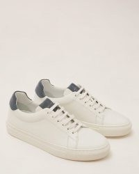 JIGSAW MIAH LACE UP LEATHER TRAINER ~ white low top trainers