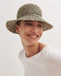 JIGSAW MILA WOVEN BUCKET HAT / chic brimmed hats