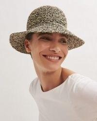 JIGSAW MILA WOVEN BUCKET HAT / chic brimmed hats