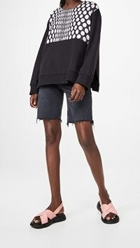 MM6 Maison Margiela Felpa Sweatshirt Black/Grey Polka Dot Print