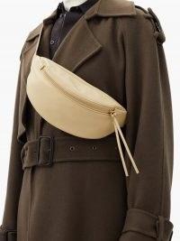 JIL SANDER Moon logo-debossed leather belt bag | luxe beige bum bags