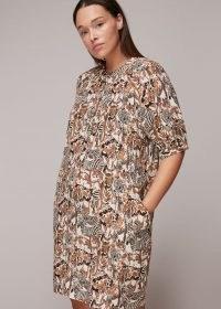 Whistles CAMO SAFARI PRINT DRESS – animal prints – cocoon shape dresses
