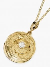 AZLEE Ocean diamond & 18kt gold dolphin embossed necklace / sea inspired pendant necklaces