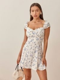 REFORMATION Pacey Dress in Lula / floral fitted bodice mini dresses