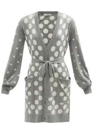 MAX MARA Pinna cardigan / grey tie waist cardigans - flipped