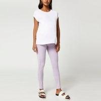 RIVER ISLAND Purple Molly maternity jeans ~ pregnancy skinny jeans