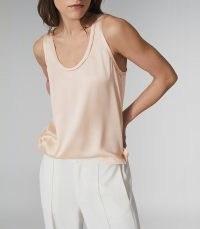 REISS RILEY SILK FRONT VEST / nude luxe tank top / loungewear
