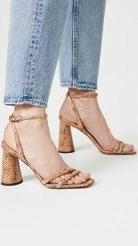 Sam Edelman Kia Slingback Sandals Wheat ~ snake effect block heel sandal
