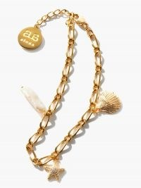 BY ALONA Sand and Sea baroque-pearl & gold-plated bracelet | ocean charm bracelets