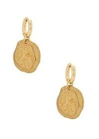 SANDRALEXANDRA Lemon Slice 18kt gold-plated hoop earrings / stylish fruit jewellery / lemons
