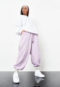 sean john x missguided lilac balloon joggers ~ voluminous 90s style jogging bottoms