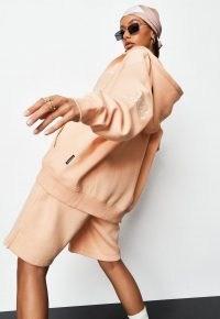 sean john x missguided peach varsity zip through hoodie ~ oversized hoodies