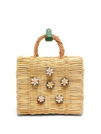 HEIMAT ATLANTICA Shella mini basket bag / shell embellished box bags / small summer handbag