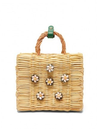 HEIMAT ATLANTICA Shella mini basket bag / shell embellished box bags / small summer handbag - flipped