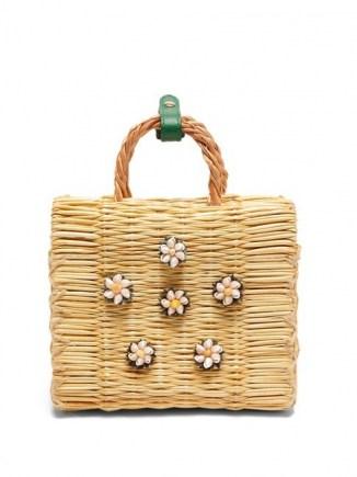 HEIMAT ATLANTICA Shella mini basket bag / shell embellished box bags / small summer handbag