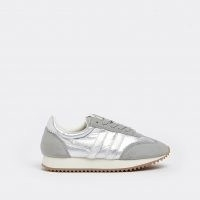 River Island Silver metallic runner trainers | sports luxe shoes