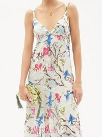 GALANTHYA Sofia Amazonas floral-print cotton dress ~ strappy cotton summer occasion maxi dresses ~ floaty occasionwear