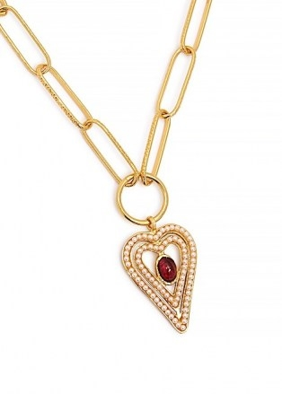 SORU JEWELLERY Amore 18kt gold-plated necklace / heart pendant necklaces - flipped