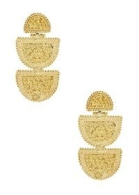 SORU JEWELLERY Lucina 18kt gold-plated drop earrings – long tiered statement drops