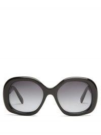 CELINE EYEWEAR Square acetate sunglasses | large black vintage style sunnies | retro eyewear