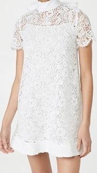 STAUD Doris Mini Dress ~ white guipure lace dresses