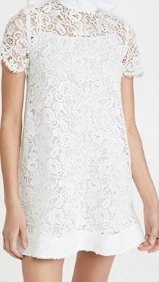 STAUD Doris Mini Dress ~ white guipure lace dresses - flipped