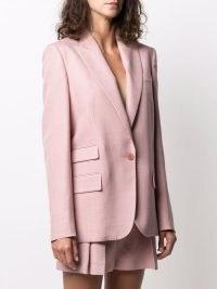 Stella McCartney single-breasted peak-lapel blazer camellia pink